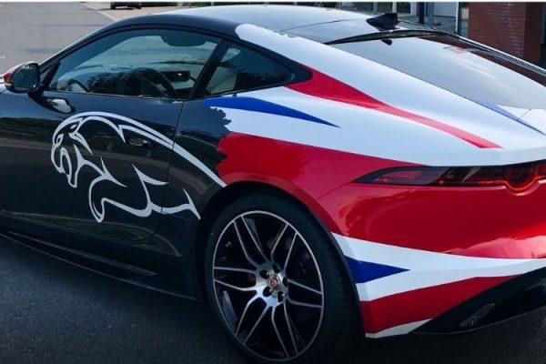 car wrap jaguar, eigen ontwerp