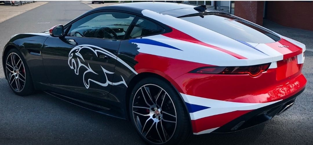 car wrap jaguar