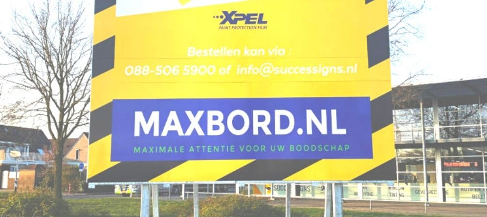reclame bord, maxbord