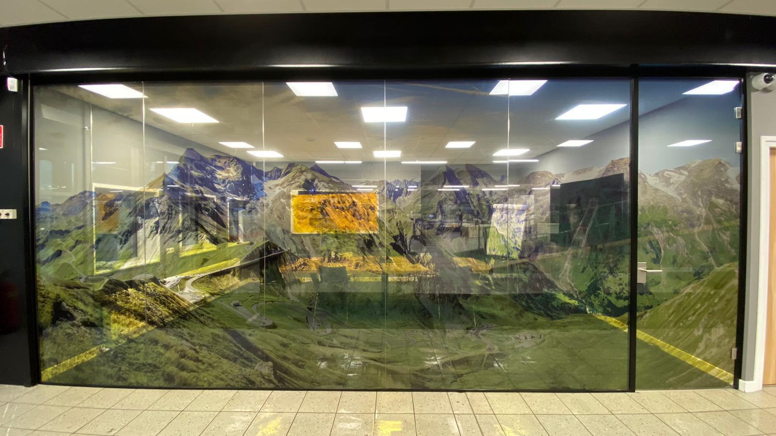 glazen kantoor ramen